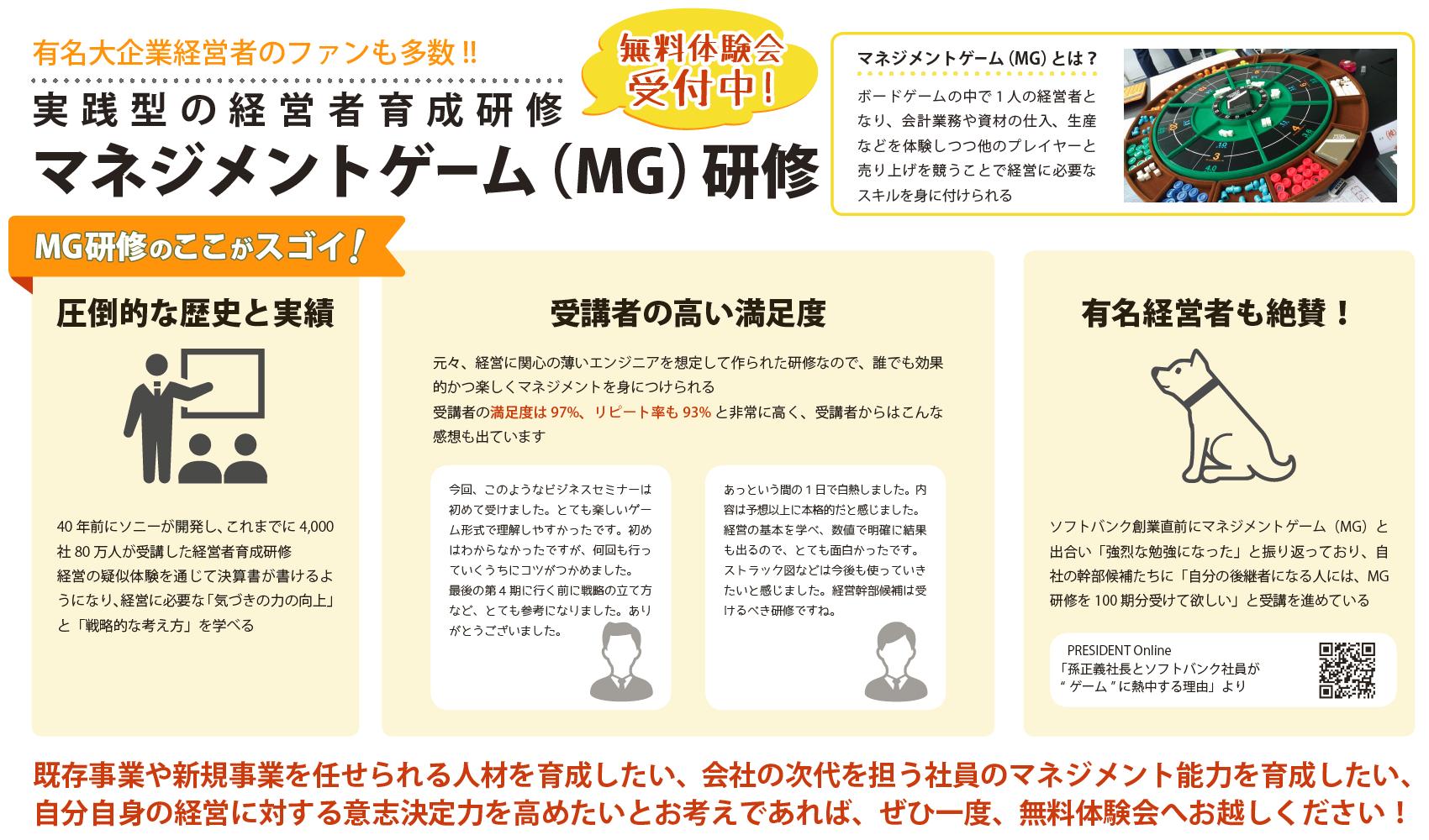 マネジメントゲームMG研修